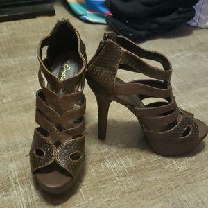 Chocolate Brown Qupid Heels